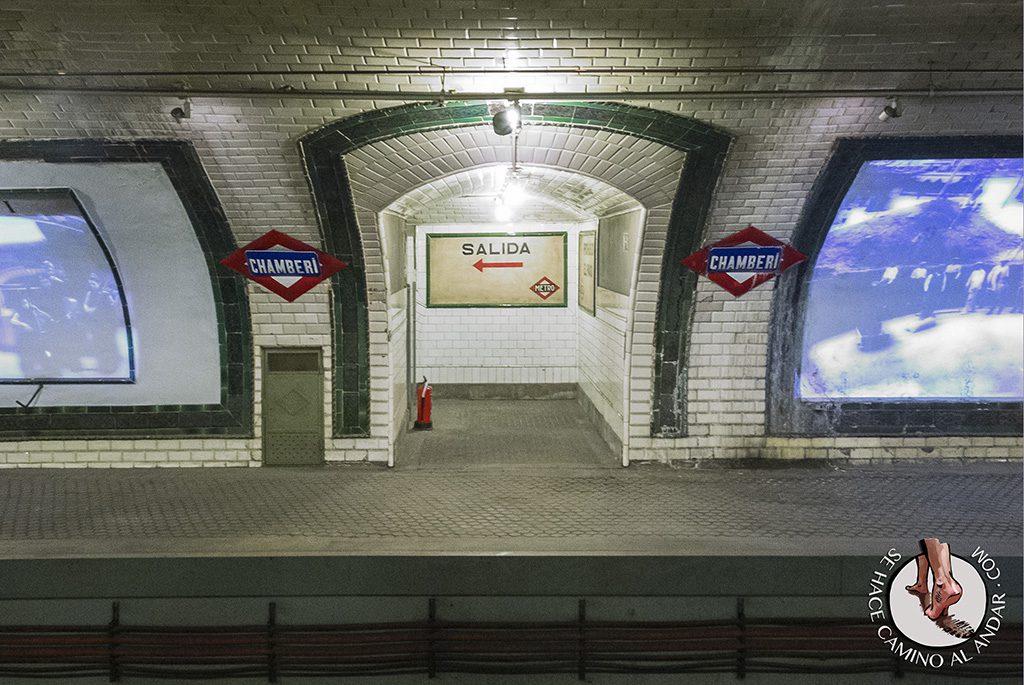 Andén metro Chamberí