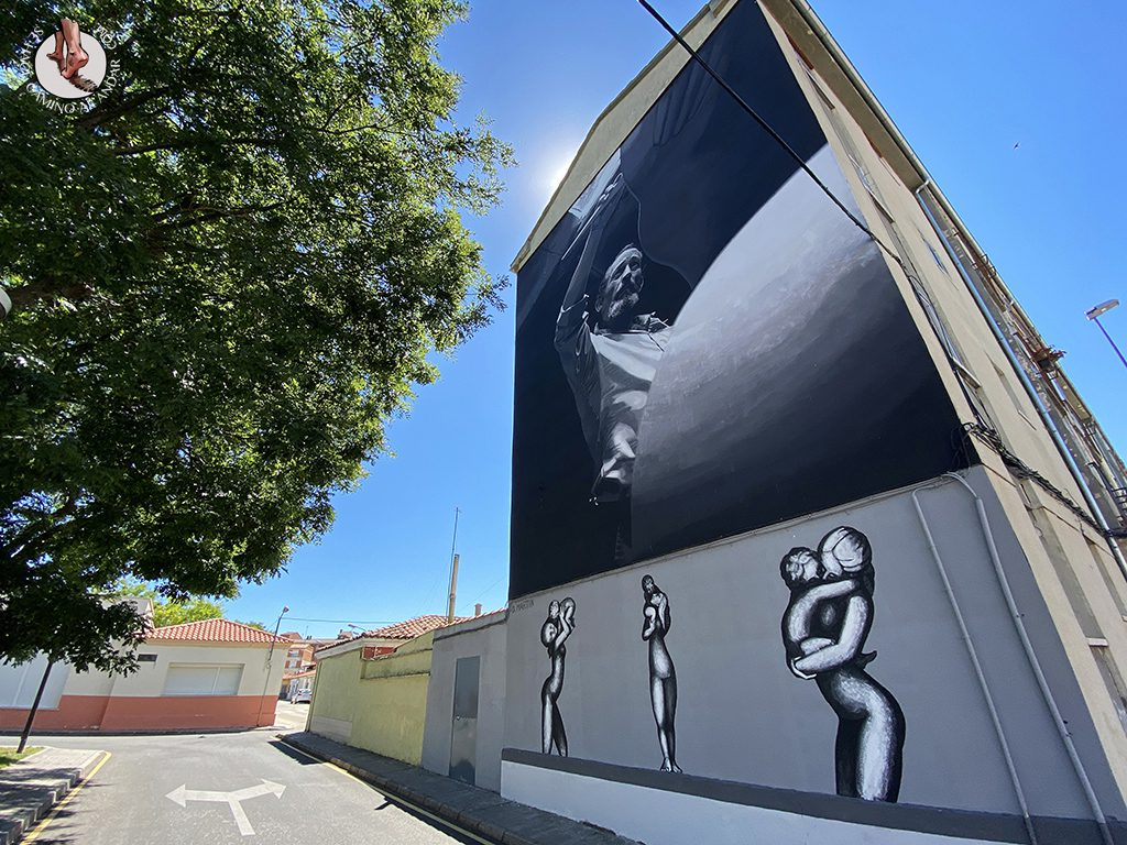 Arte urbano Zamora fachada angel bariego