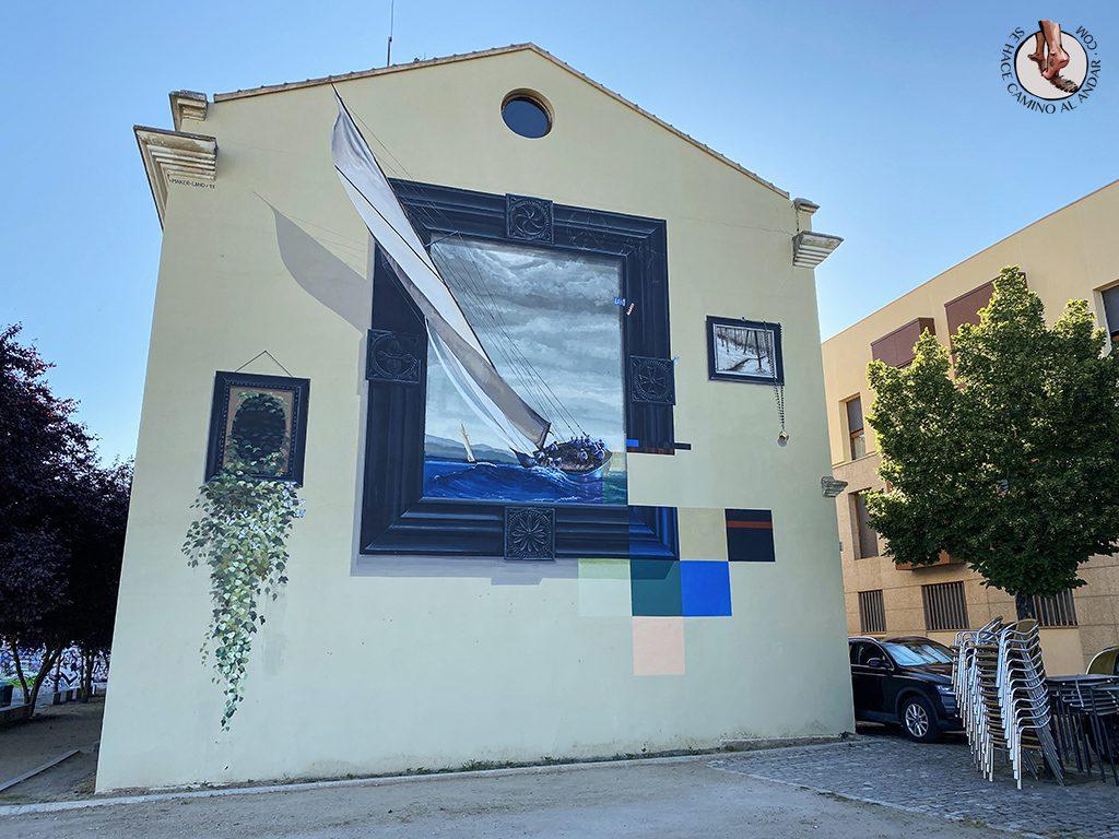 Arte urbano Zamora fachada barco