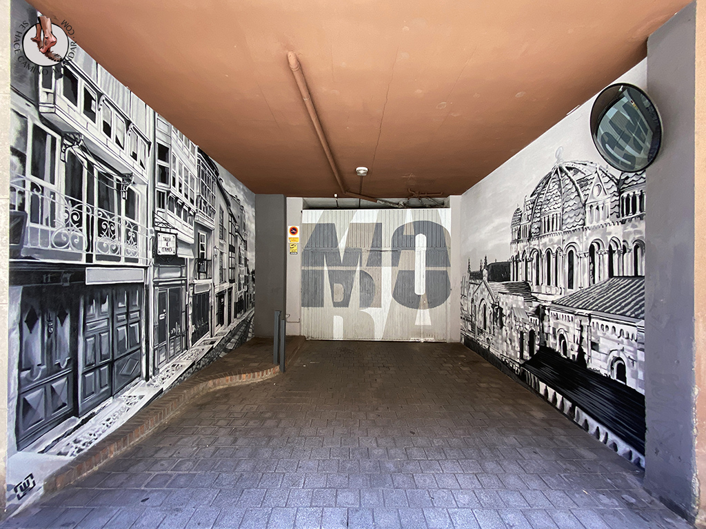 Arte urbano Zamora garaje entrada