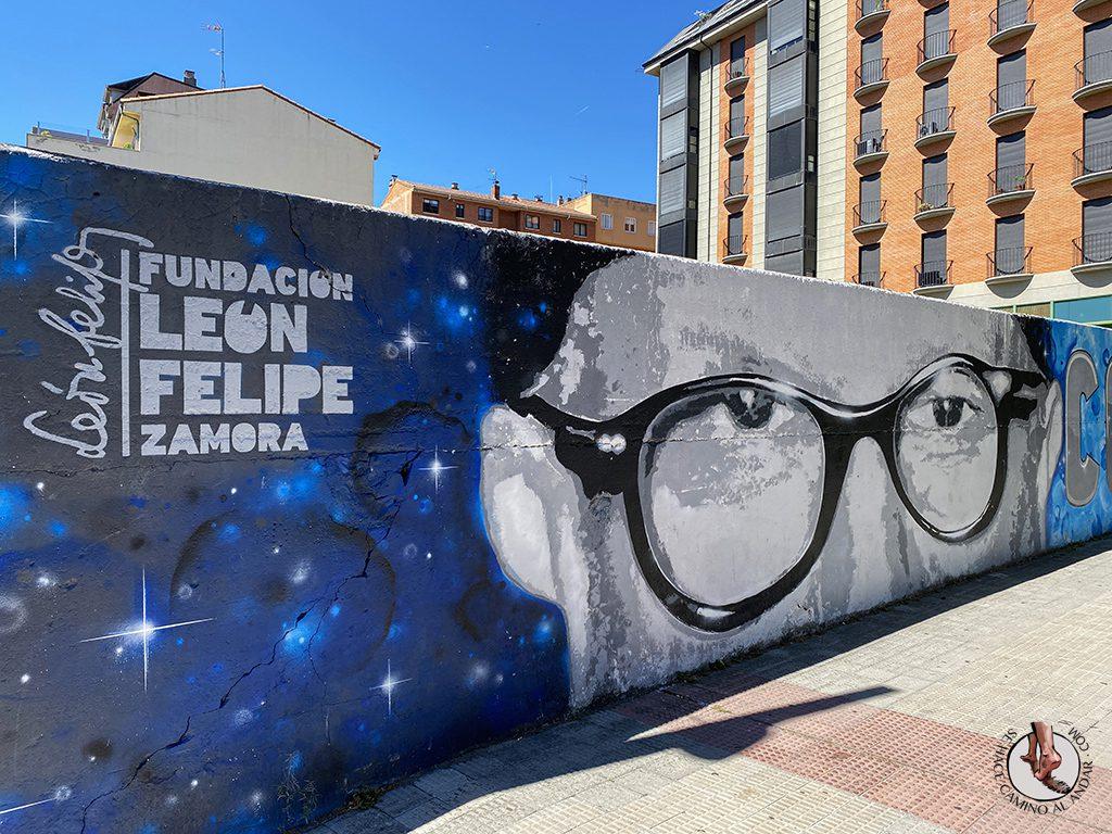 Arte urbano Zamora mural Leon Felipe