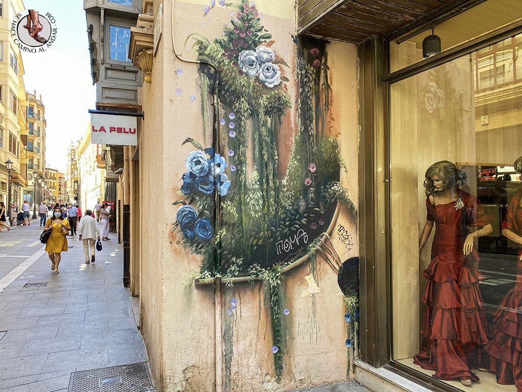Arte urbano Zamora mural flores