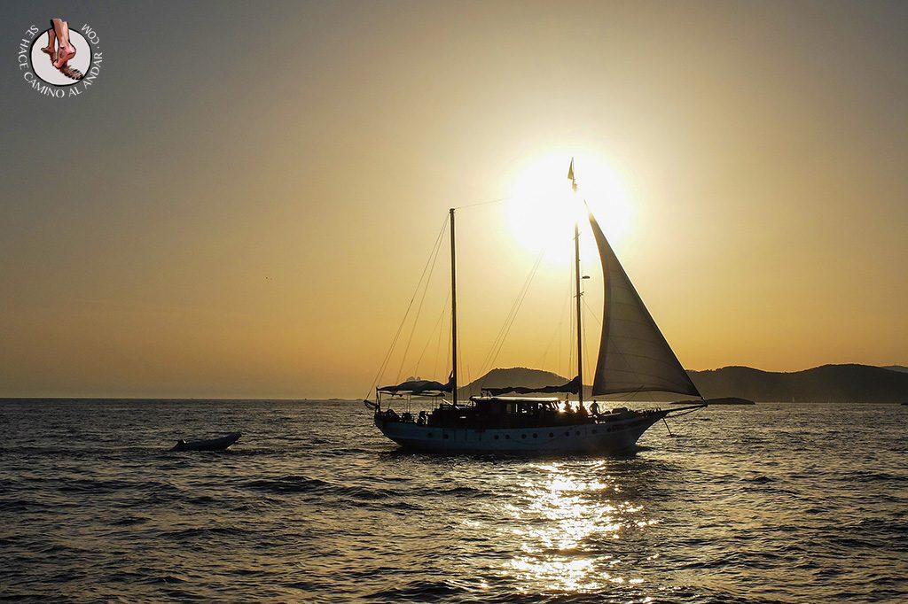 Atardecer velero Formentera