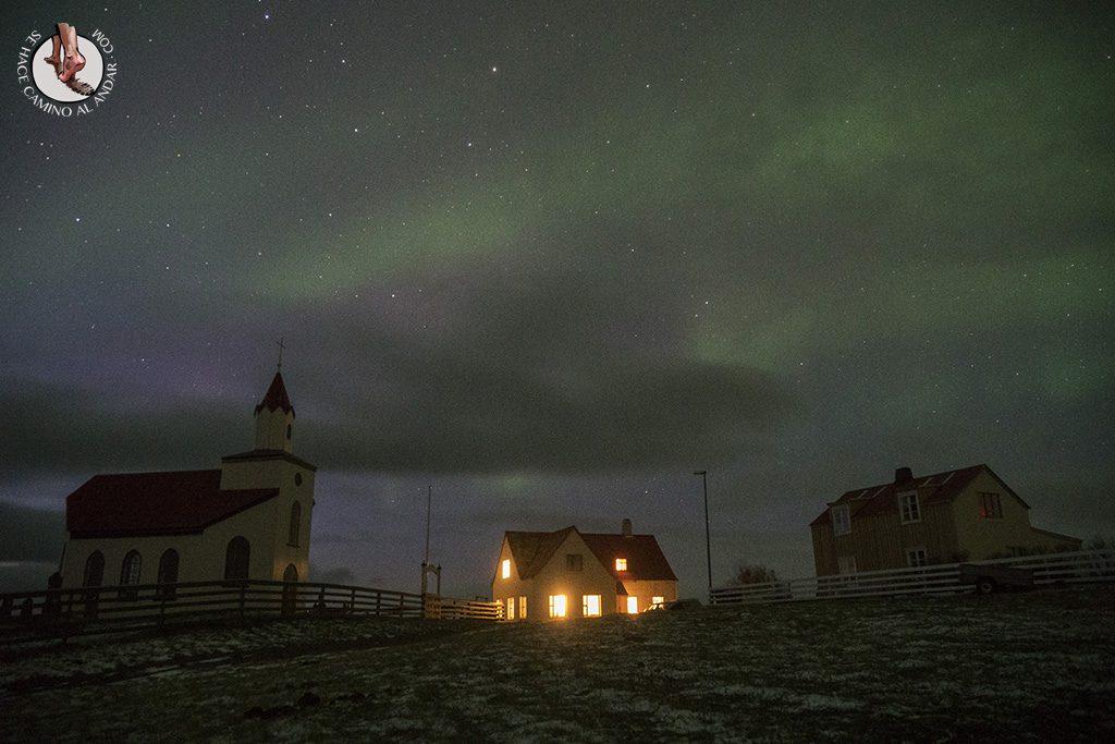 Aurora boreal leve colores