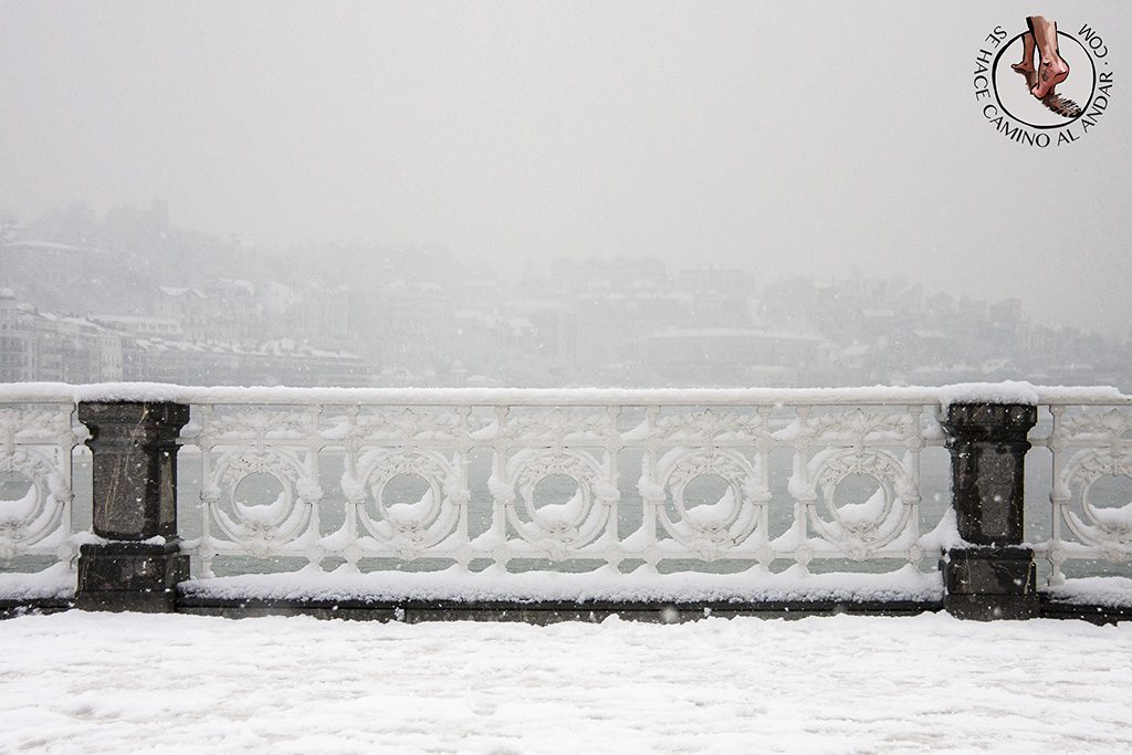barandilla de La Concha nevada