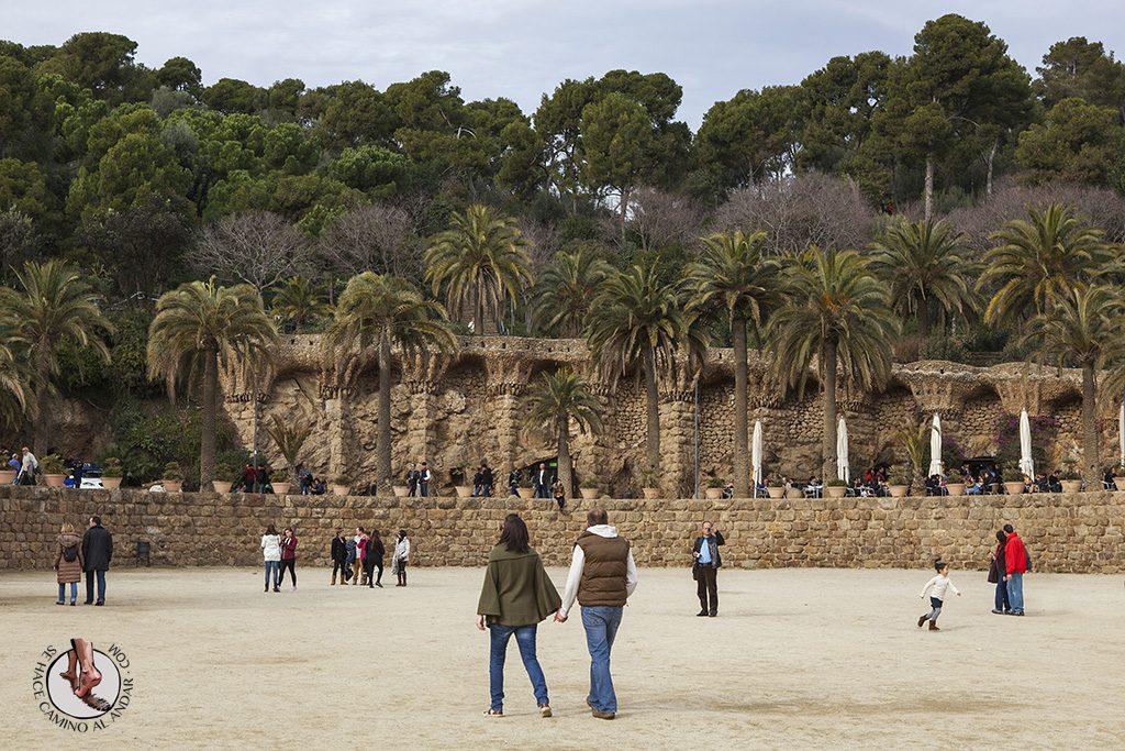 Barcelona park güell plaza de la naturaleza