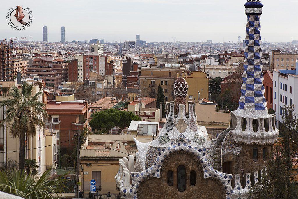 Barcelona park güell vistas pabellones