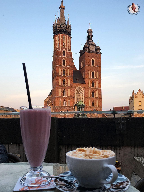 Batido fresa Cafe Szat Cracovia