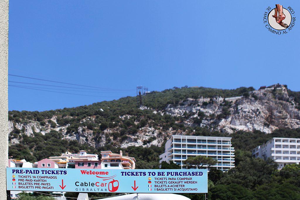 Cablecar funicular Gibraltar