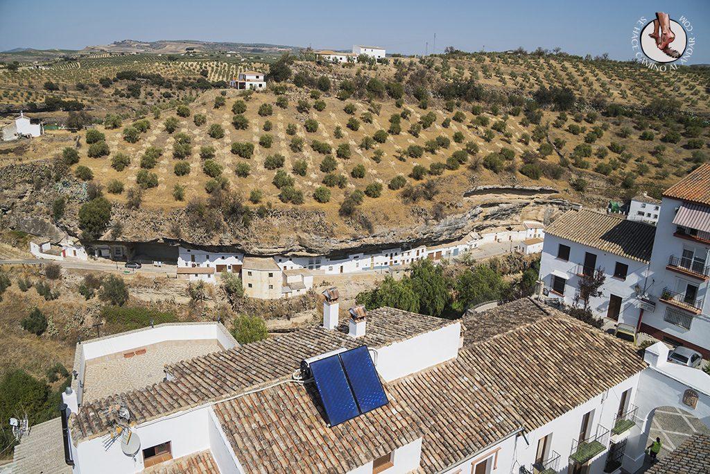 Calle Jabonería desde la Torre del Homanaje Setenil