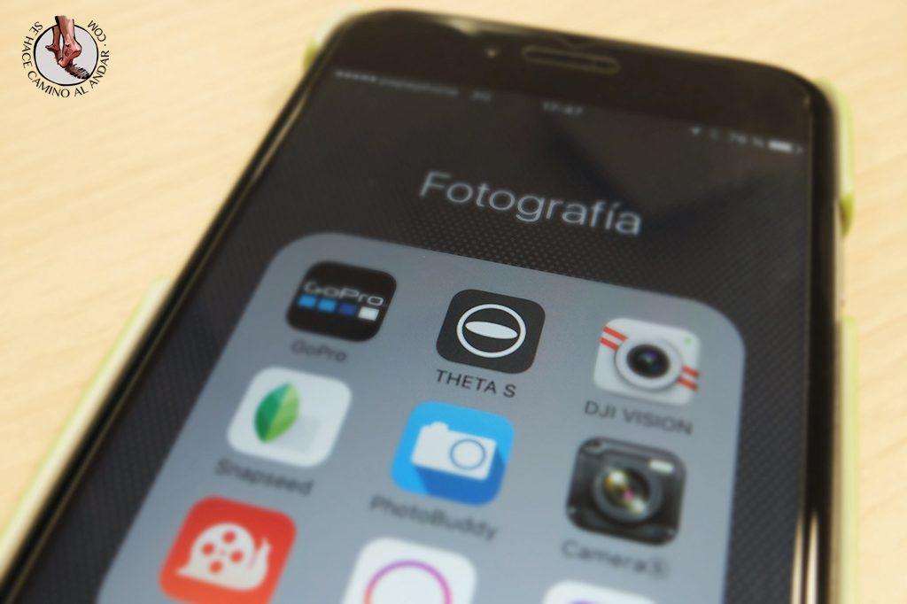Camara 360 Ricoh Theta S app
