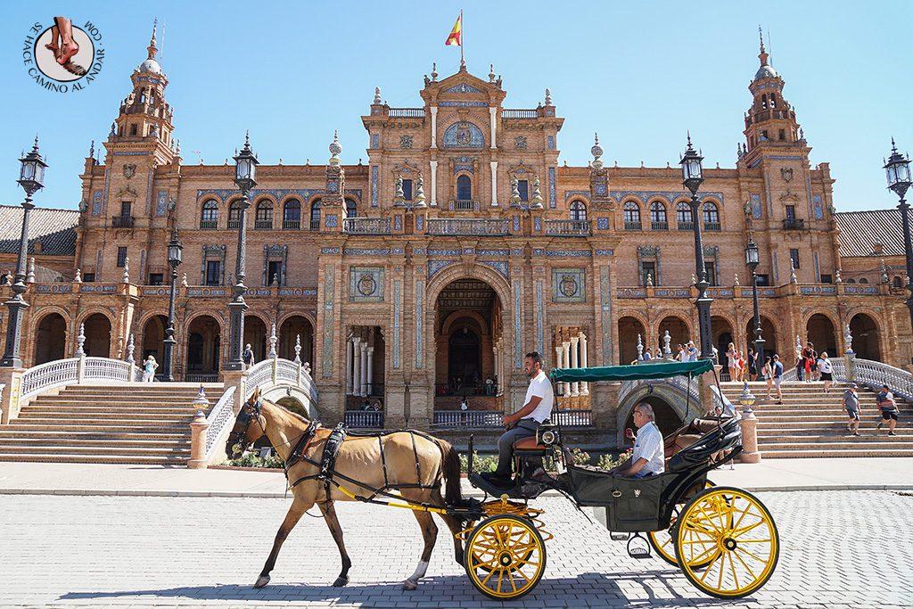 Carruaje en Plaza de España Sevilla