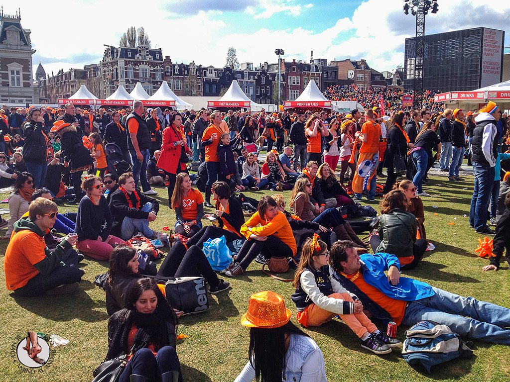 Cesped museumplein Queens day