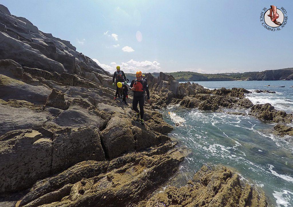 Coasteering flysh rocas