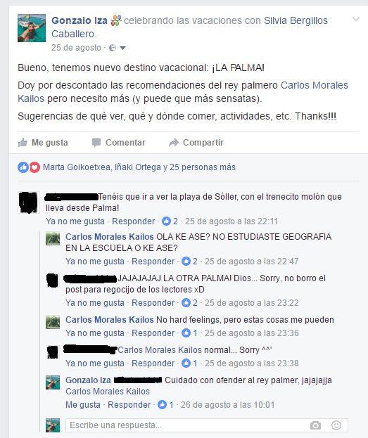 Confusión Palma La Palma Las Palmas