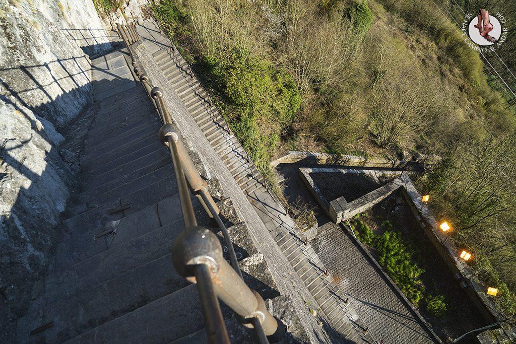 Dinant ciudadella escaleras