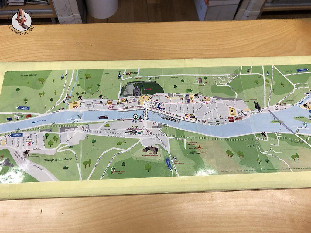 Dinant oficina turismo mapa