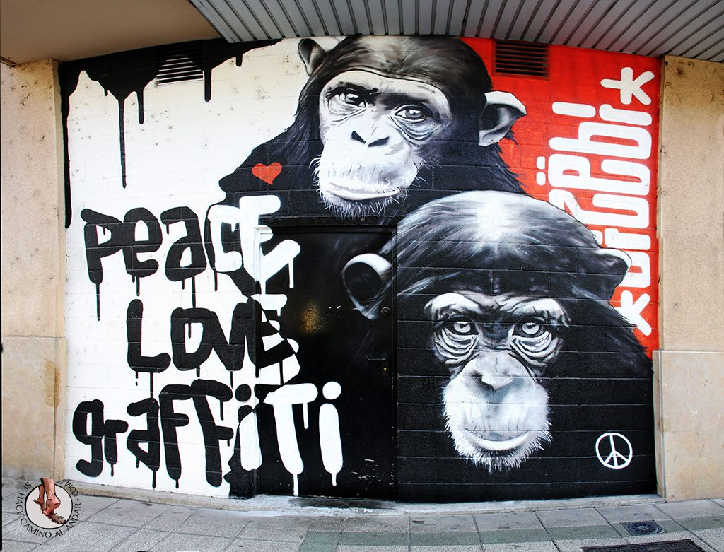 Dizebi graffitero Goierri Beasain monos
