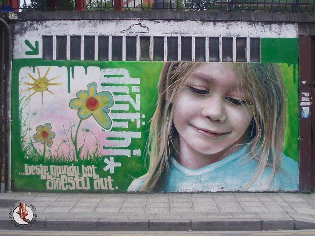 Dizebi graffitero Goierri Beasain nina flores