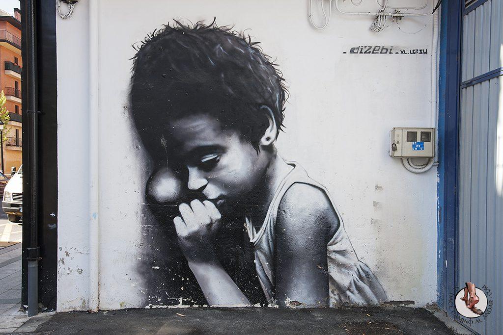 Dizebi graffitero Goierri Beasain nina