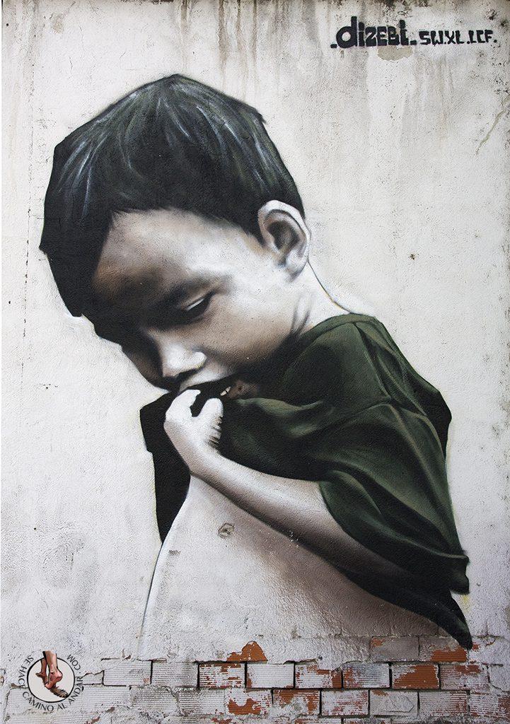 Dizebi graffitero Goierri Beasain nino camiseta