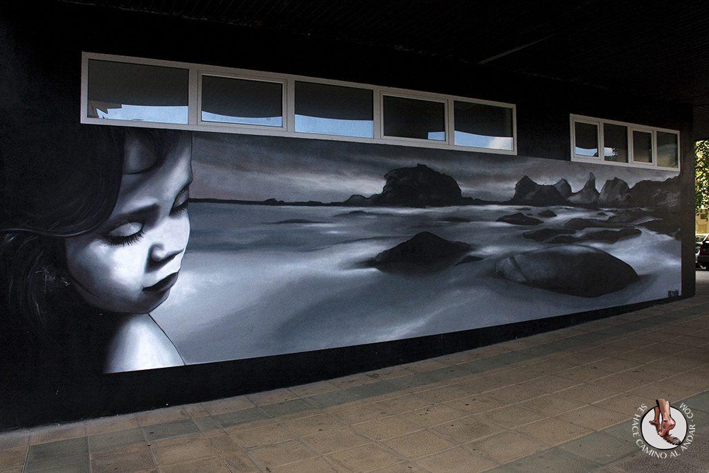 Dizebi graffitero Goierri Lazkao fachada
