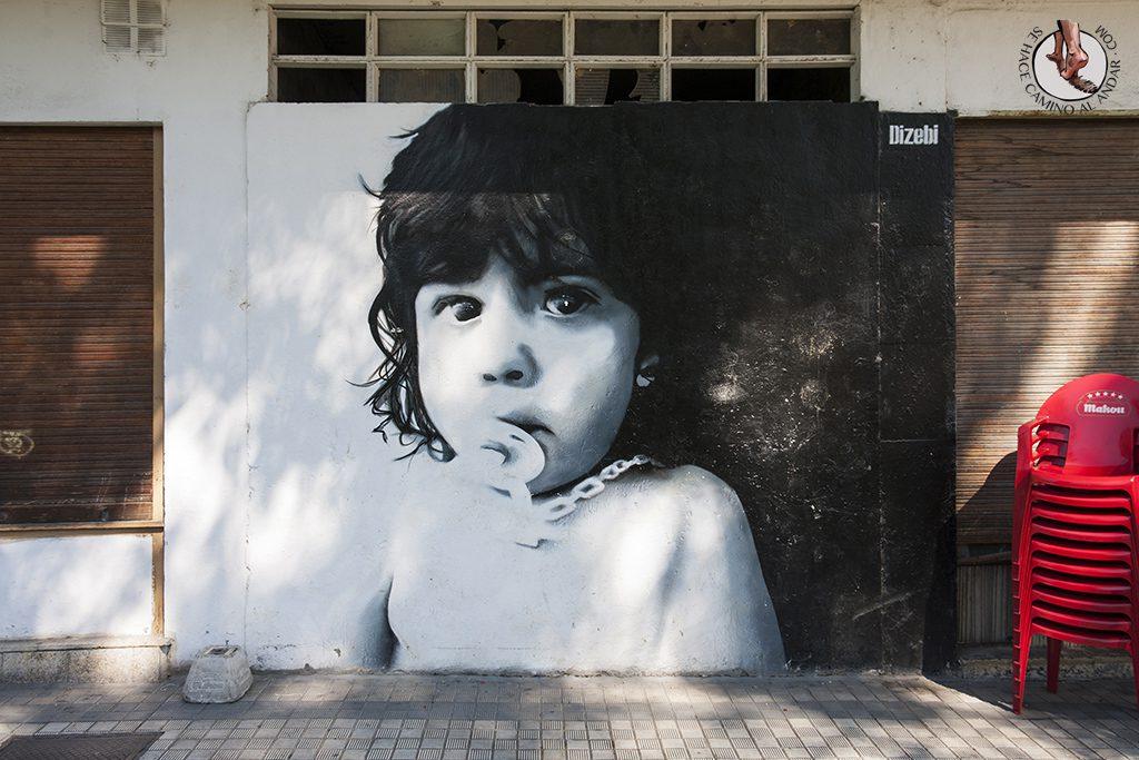 Dizebi graffitero Goierri Ordizia nina chupete
