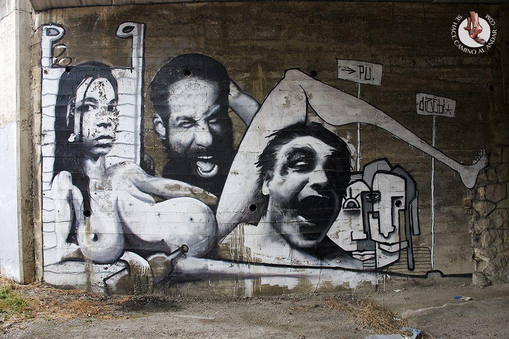 Dizebi graffitero Goierri Ormaiztegi collage
