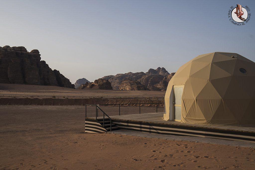 Dormir en el desierto de Jordania haima vip