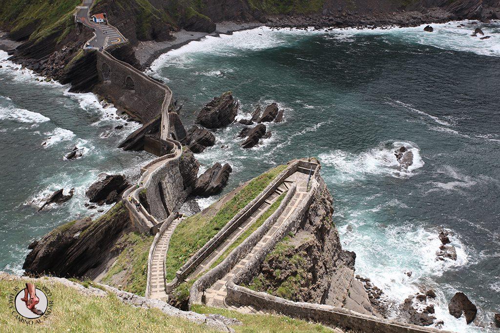 Escaleras San Juan Gaztelugatxe Juego de Tronos