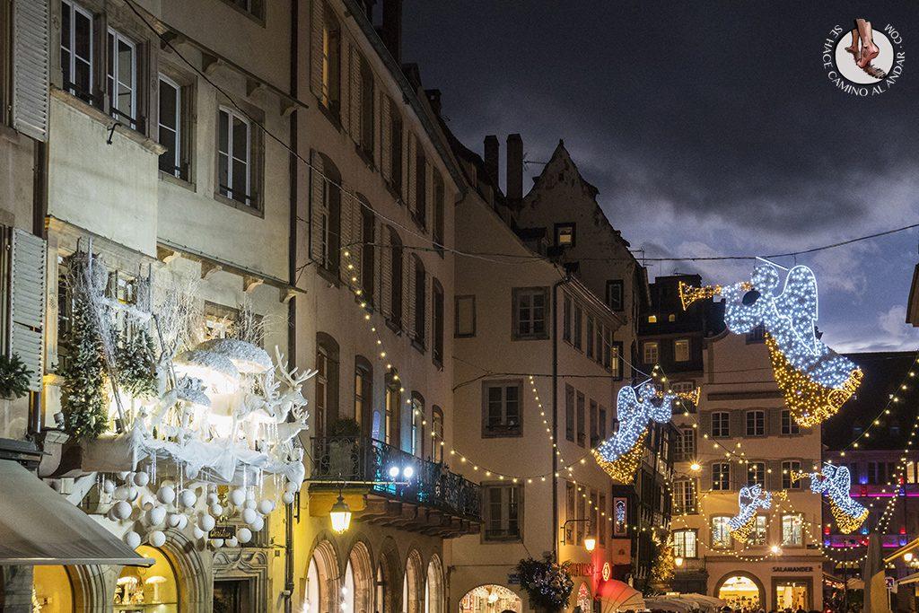 Estrasburgo Rue Merciere luces