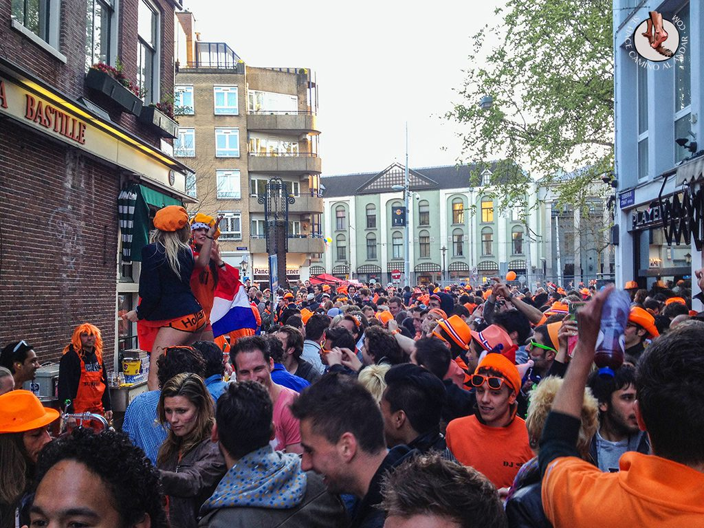 Fiesta calles Amsterdam Queens Day