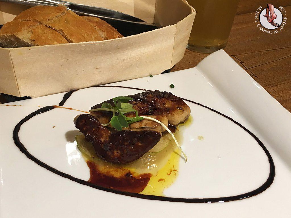 Foie manzana Pedro Ximenez Gure Toki