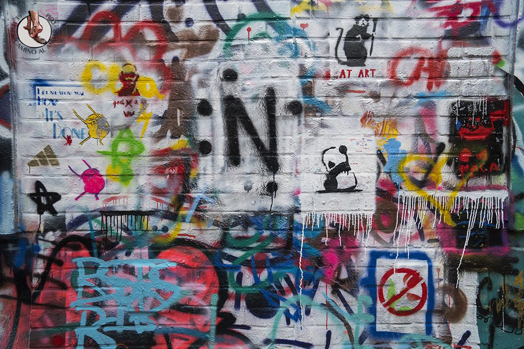 Gante calle graffiti mural