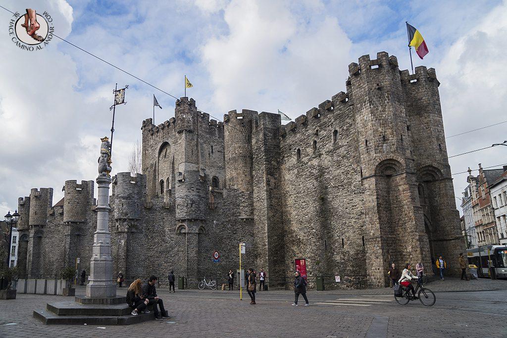 Gante castillo condes flandes entrada