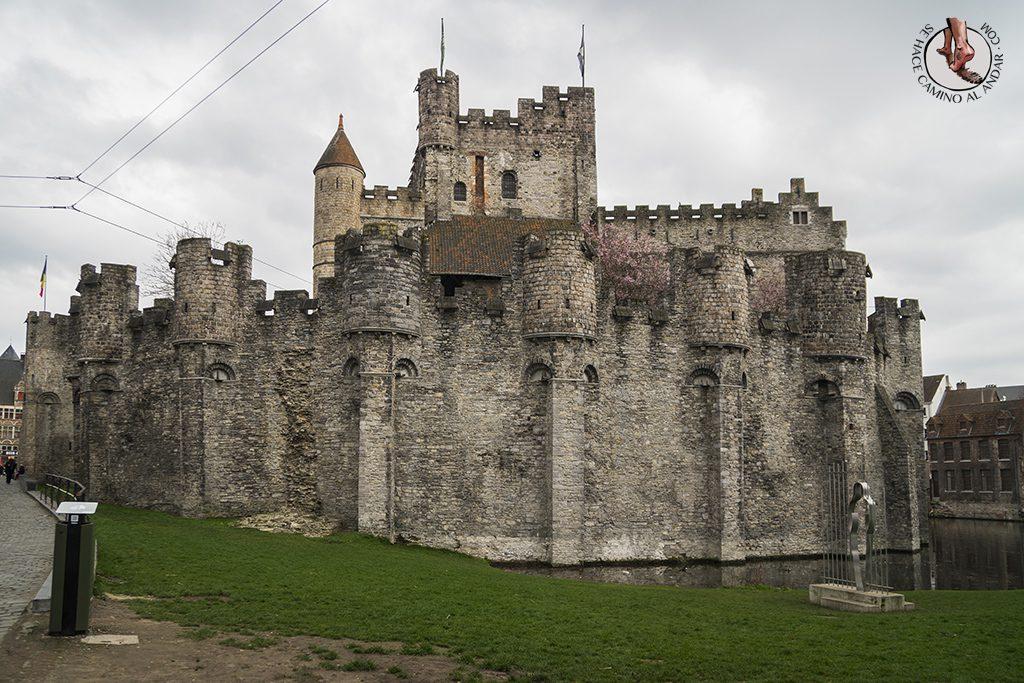 Gante castillo condes flandes lateral