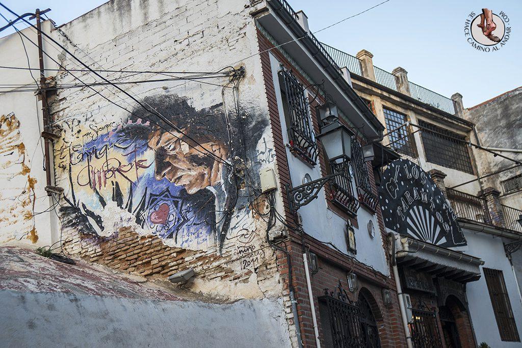 Graffiti niño de las pinturas granada