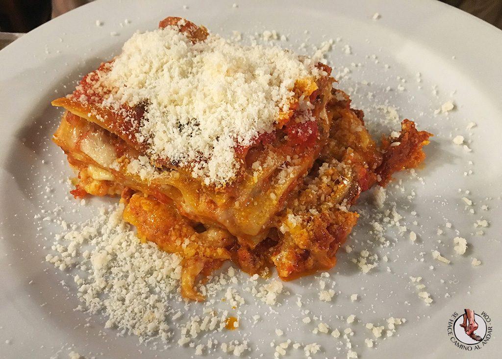 Il Ponentino lasaña carne Roma