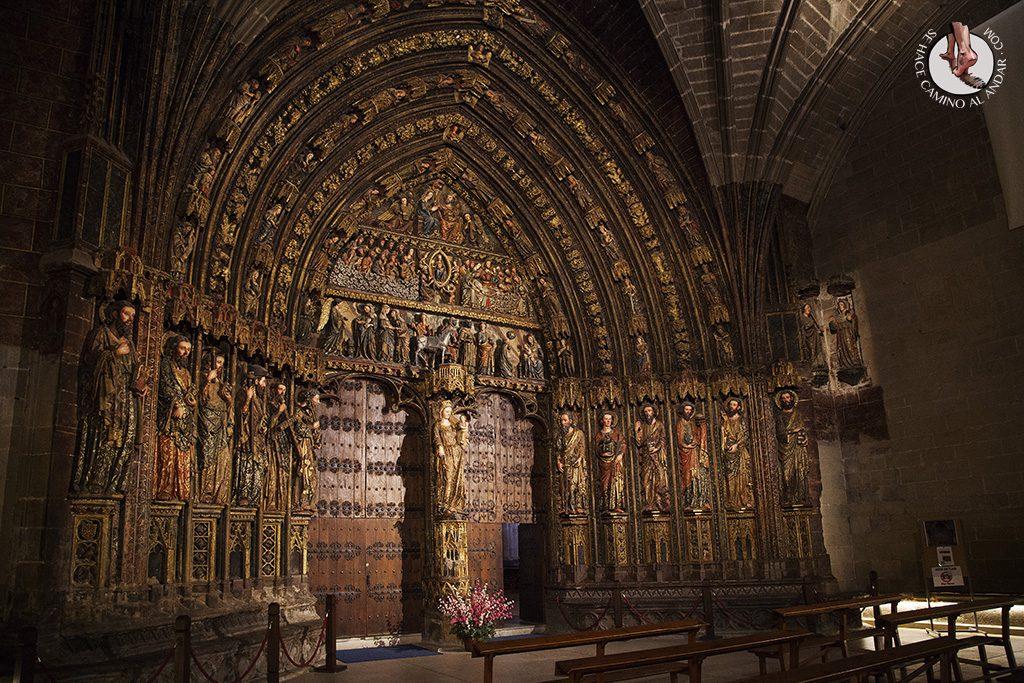 Laguardia pórtico Iglesia Santa Maria de los Reyes