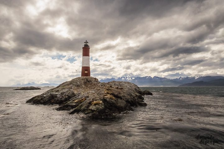 Les eclaireurs lighthouse in Beagle Channel in Ushuaia Argentina
