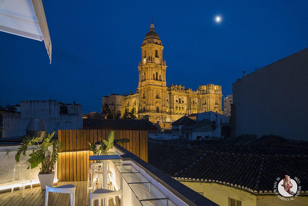Miradores de Málaga Chinitas urban hostel nocturno