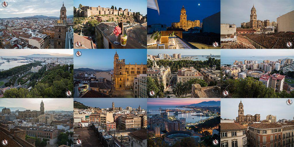 Miradores de Málaga: vistas de la Catedral manquita y Malagueta