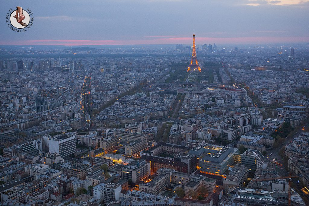 Miradores de Paris Montparnasse Torre Eiffel ocaso