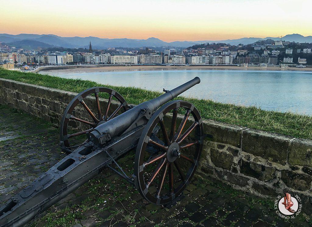 Miradores de San Sebastián Batería de las Damas cañón