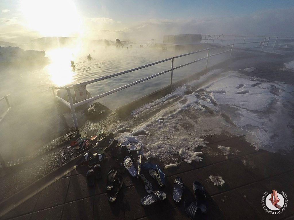 SPA geotermal Myvatn Nature Baths chancletas