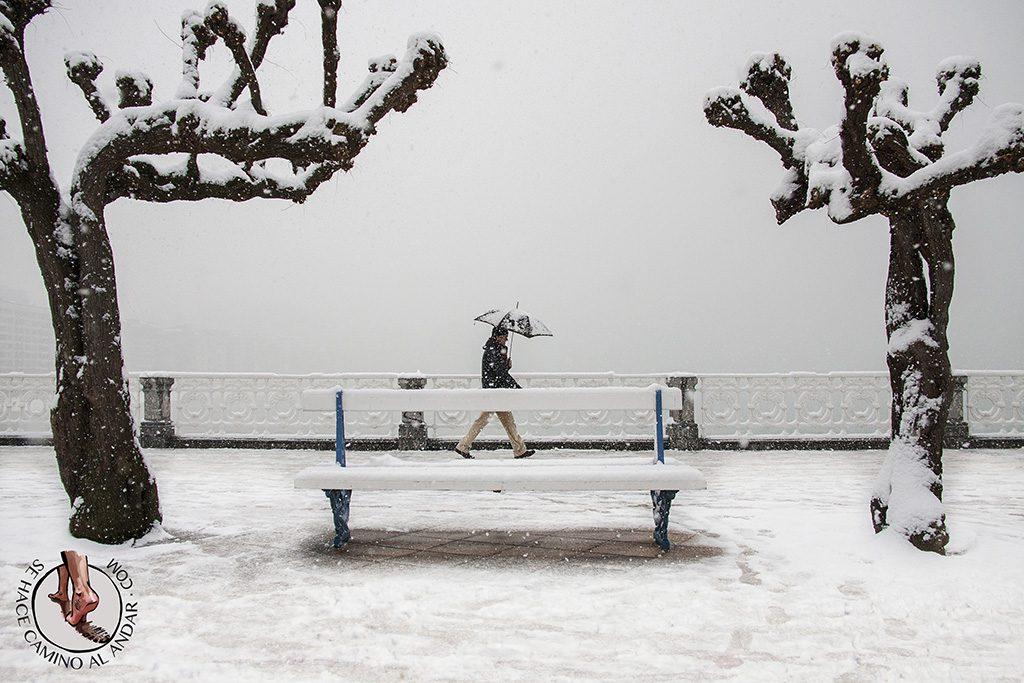 Nieve en San Sebastian