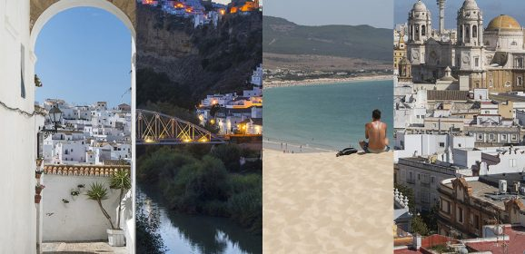 Organizar un viaje por la provincia de Cádiz (pueblos blancos, playas infinitas, sierra…)
