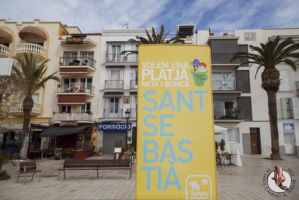 Platja Sant Sebastia Sitges