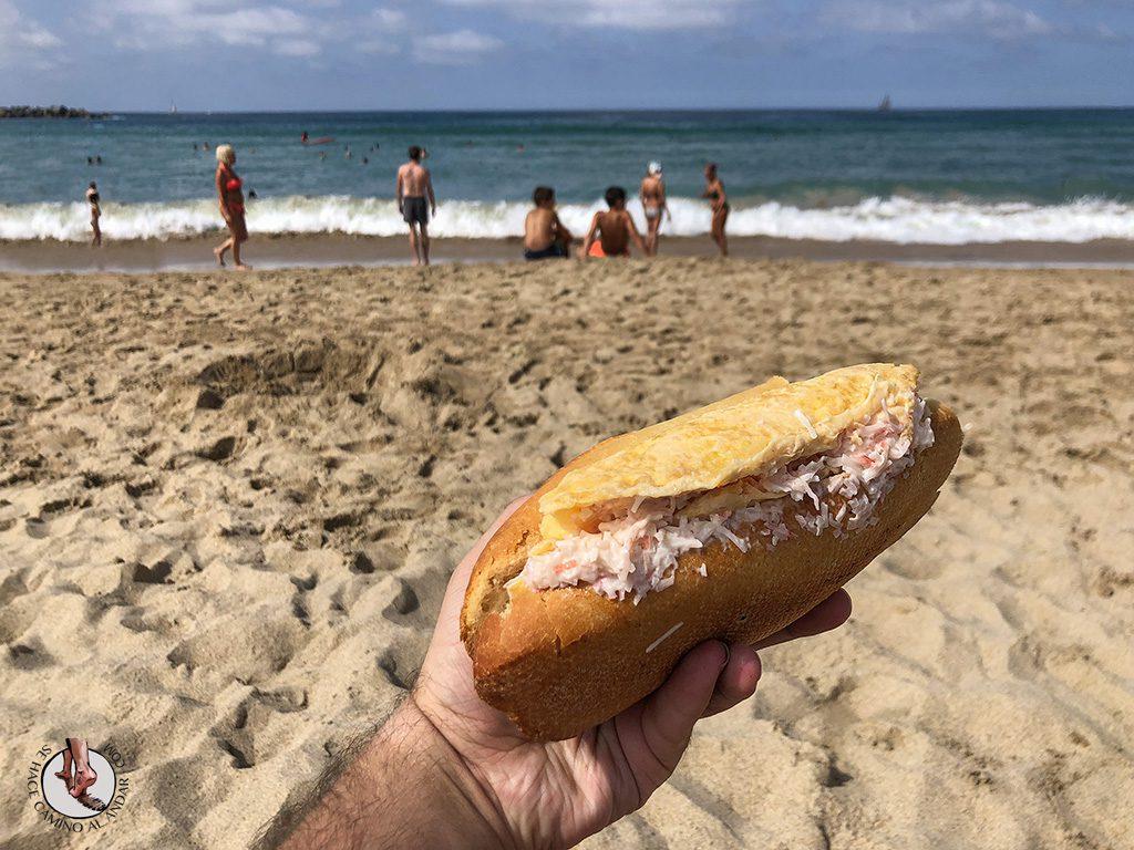 Playa Zurriola Juantxo tortilla patata txaka