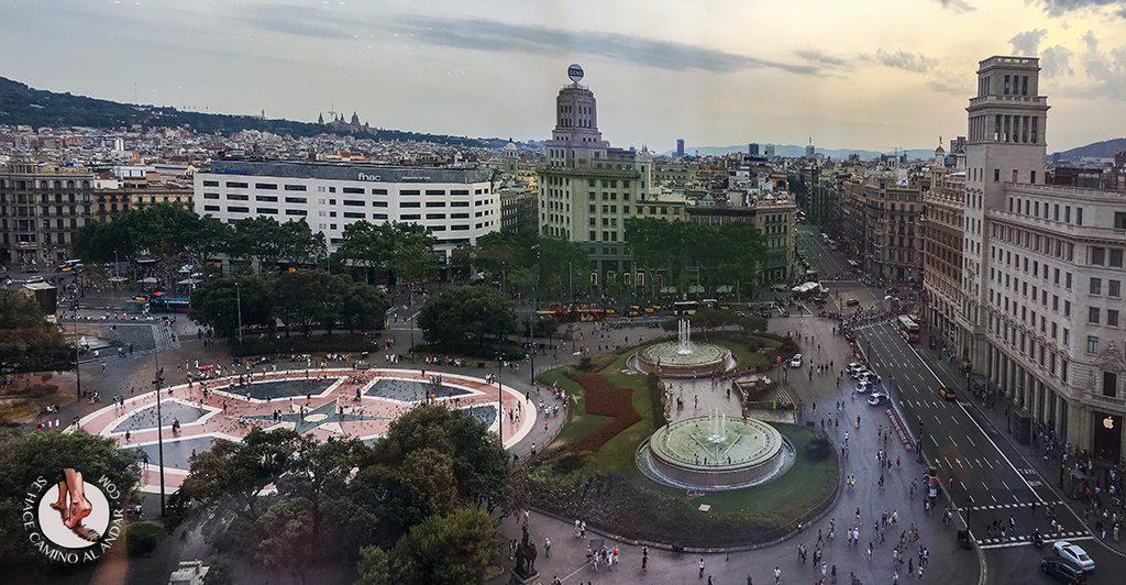 Plaza Cataluña desde Corte Ingles